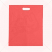 Red Patch Handle Fashion Carrier Bags 38x46+8cm x 100pcs