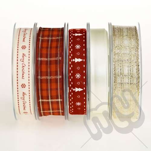 Christmas Ribbon, Elegant Gold - 20metres
