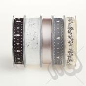 Christmas Ribbon, Elegant Silver - 20metres