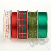 Christmas Ribbon, Traditional Red & Green Bumper Pack - 20metres