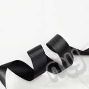 Black Double Satin Ribbon 15mm x 20 metres