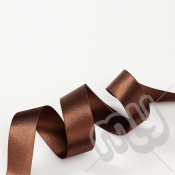 Chocolate Brown Double Satin Ribbon 25mm x 20 metres
