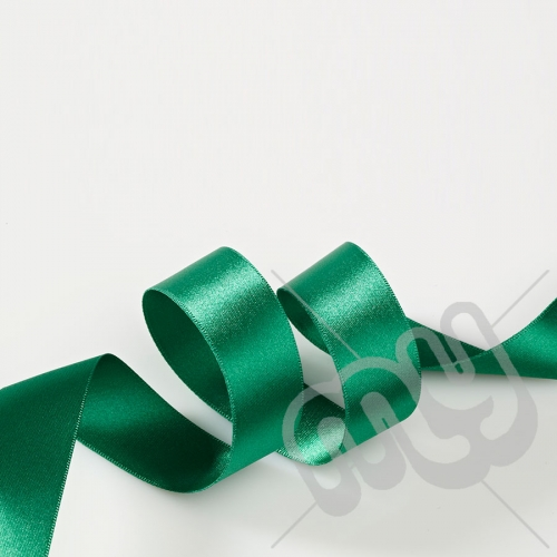 Green Double Satin Ribbon 10mm x 20 metres