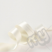 Ivory Double Satin Ribbon 15mm x 20 metres