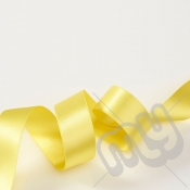 Yellow Double Satin Ribbon 10mm x 20 metres