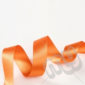 Orange Double Satin Ribbon 25mm x 20 metres