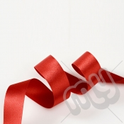Red Double Satin Ribbon 25mm x 20 metres