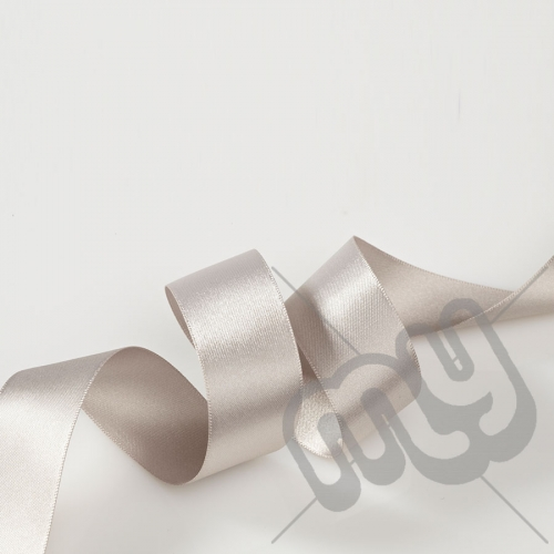 Silver Double Satin Ribbon 25mm x 20 metres