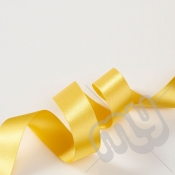 Gold Double Satin Ribbon 25mm x 20 metres