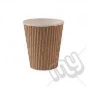 Brown Kraft Ripple Insulated Cups - 12oz x 50pcs