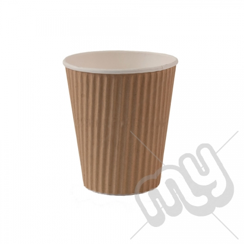 Brown Kraft Ripple Insulated Cups - 12oz x 50pcs
