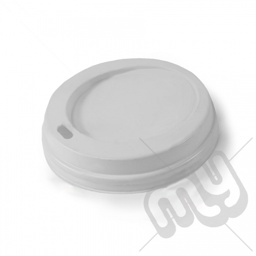 White Plastic Sip Through Lids - 12oz / 16oz x 50pcs