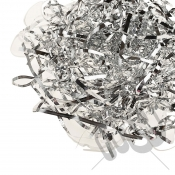 Silver Foil Shredded Tissue Paper - 25 Grams