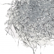 Silver ZigZag Foil Shredded Tissue Paper - 28 Grams