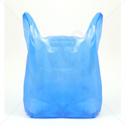Blue Recycled Plastic Carrier Bag 11x17x21 16 Micron (Medium Strength) x 1000pcs