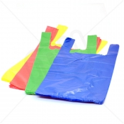 Coloured Plastic Carrier Bag 11x17x21 10 Micron (Light Strength) x 2000pcs