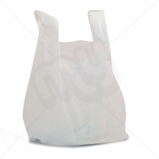 White Plastic Carrier Bag 10x15x18 9micron (Light Strength) x 2000pcs
