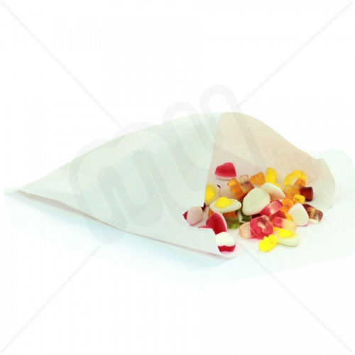 7 x 7 White Sulphite Paper Bags x 1000pcs